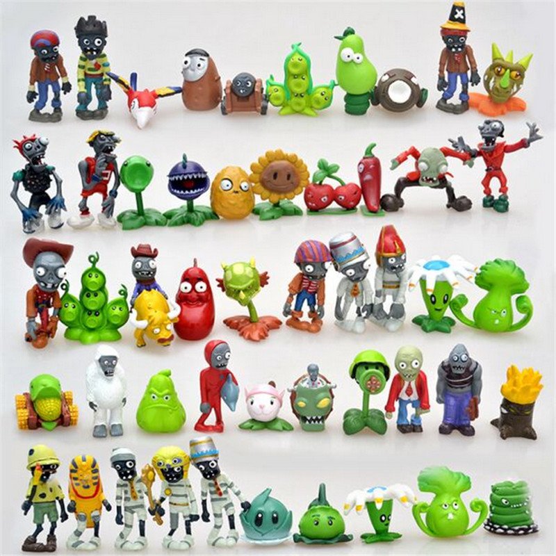 3-8cm Plants vs Zombies Action Figure Toy PVC Plants vs Zombies Figure Model Toys For Children Collective Brinquedos  3 8cm plants vs zombies action figure toy pvc plants vs zombies figure model toys for children collective brinquedos