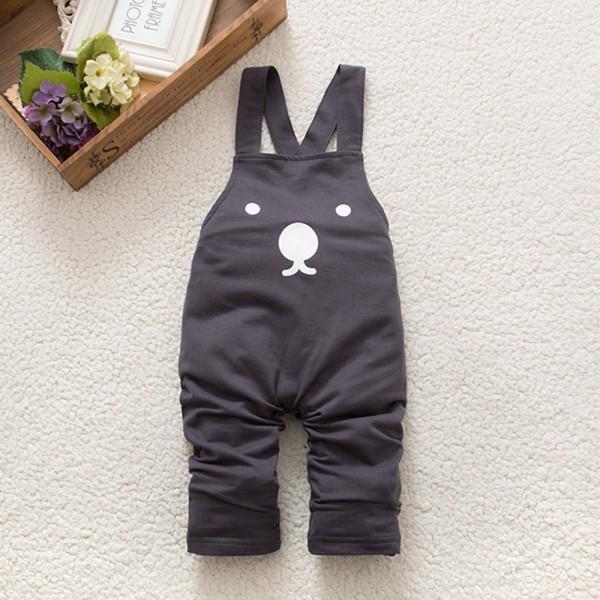 Novo Menino Bonito Do Bebê Meninas Bib Calças Macacão Urso Impressão Harem Pants Calças Compridas