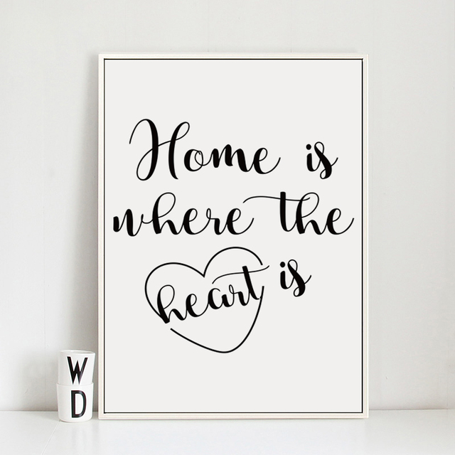 07g abstract english phrase home is where the heart is a4 a3 a2