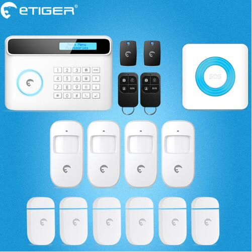 Free shipping S4 Etiger GSM Alarm system Home Smart Alarm S4 Security Alarm System with Ten Language menu big discount etiger pstn gsm alarm system home smart alarm s4 security alarm system with ten language menu