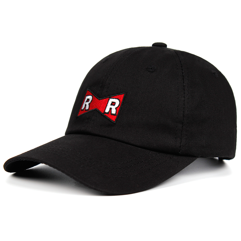 Dr.Gero Dad Hat 100% Cotton RR   Baseball     Cap   Dragon Ball Red Ribbon Army Delicate Embroidery Snapback   Caps   No structure Hat