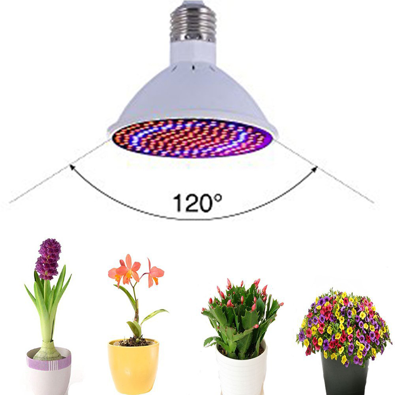 E27 LED <font><b>Grow</b></font> light Lamp For Plants Full Spectrum LED Phytolamp For Plants Indoor Plants Hydroponic System Greenhouse <font><b>Grow</b></font> <font><b>Tent</b></font> image