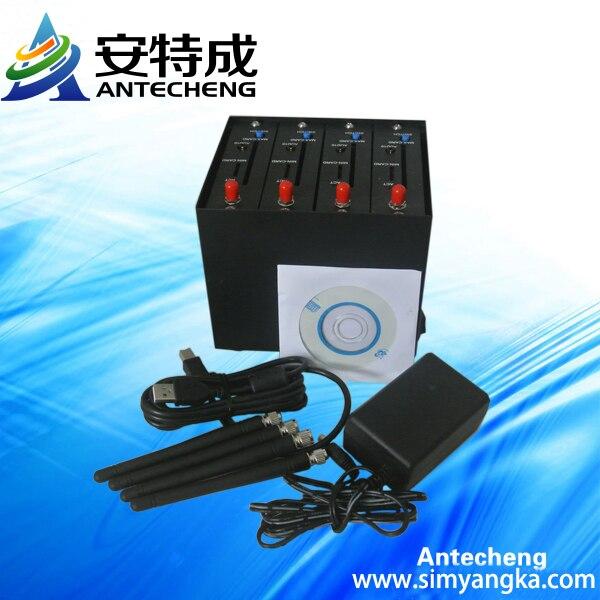 4 Port Bulk SMS GSM MOdem Pool Q2406B 900 1800Mhz