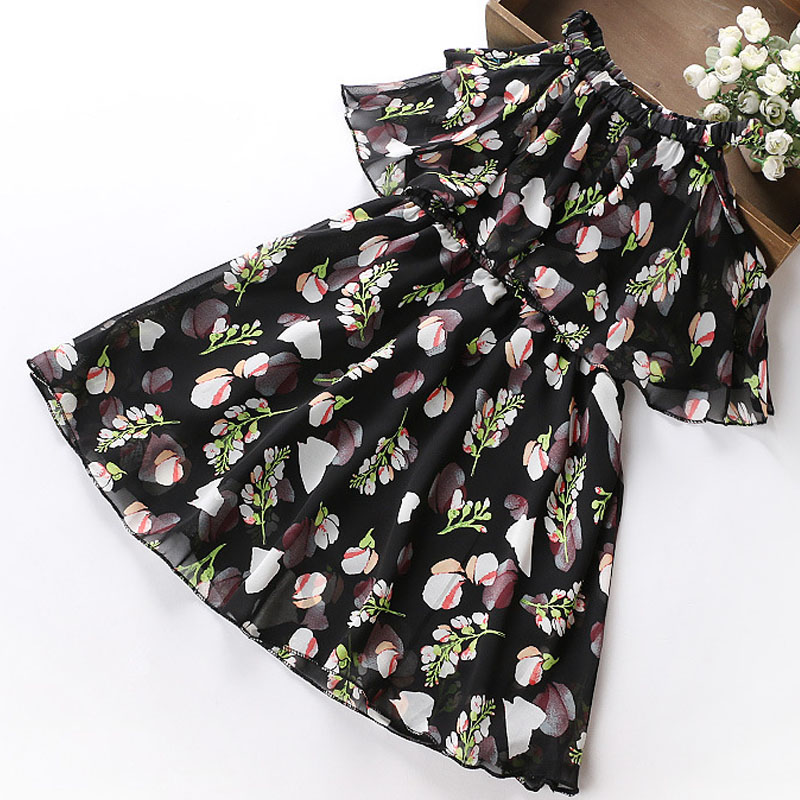 94615840a173 Sodawn 2018 Summer Chiffon Floral Dresses Princess Party Dress Teenage Children s  Clothing Girls Clothes Print Design Baby Dress-in Dresses from Mother ...