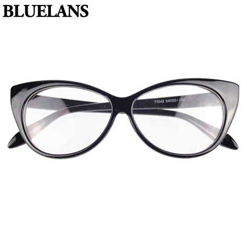 a15da4968e Women Classic Sexy Vintage Cat-Eye Shape Plastic Plain Eye Glasses Frame  Eyewear