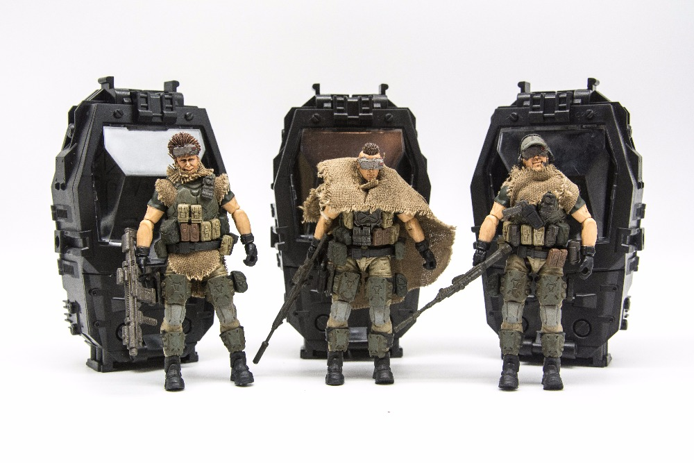 JOY TOY 1 18 action figure soldiers 3pcs lot RUSSIAN FEDERATION CAUCASUS model doll Free shipping