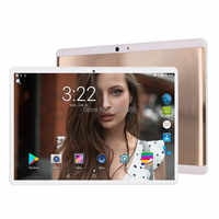 6GB + 128GB tablet 2.5D di Vetro 10 pollici tablet Android 9.0 Octa Core 1280x800 HD IPS 3G 4G LTE GPS WIFI Pad 10 10.1 Regali