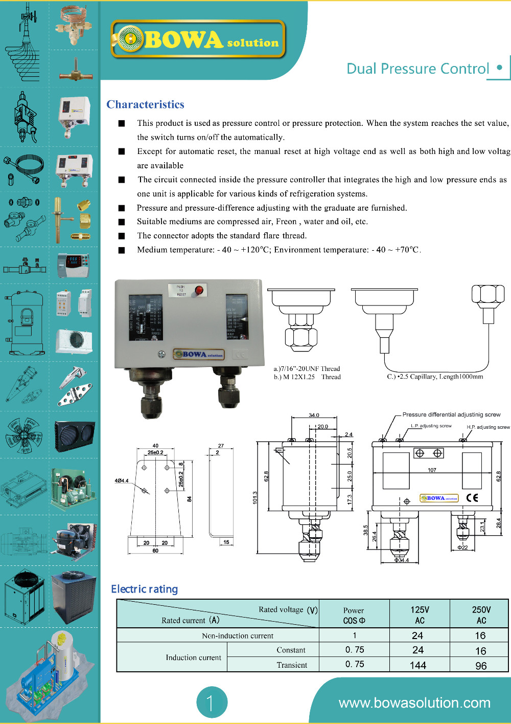 R410a Autoreset Dual Pressure Controls Is Used To Protect Danfoss Switch Wiring Diagram Dualpressure1 Dualpressure2 Xbottom