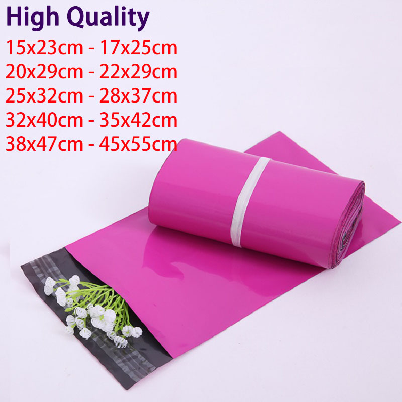 Retail Purple and White Poly Mailer Plastic Mailing Bag Self Sealing Plastic Envelope Packaging Shipping Bags Polybag Mailbag(China)