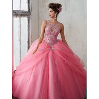 2019 New Arrival Quinceanera Dresses Masquerad Ball Gowns Beads Sequins Tulle Sweet 16 Dresses 15 Years Cheap Quinceanera Gowns