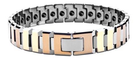 Placage d'or biseauté au carbure de tungstène avec Bracelets magnétiques Germanium/TUBR1011