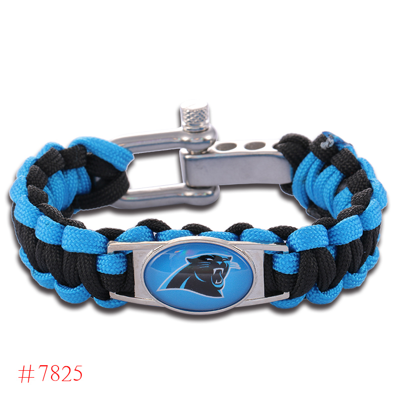 Carolina Panthers Brown Football Bracelet