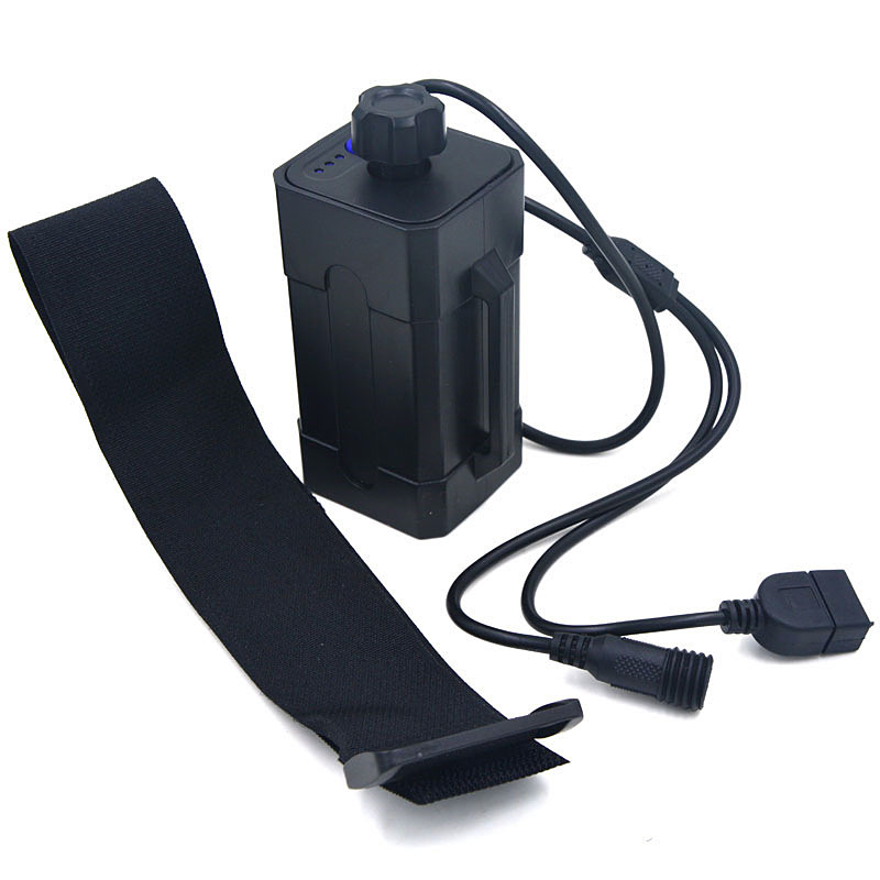 Bicycle Bike front Light X2 X3 Power Battery Storage Case Box Waterproof 8.4V Battery Pack(not Included battery)