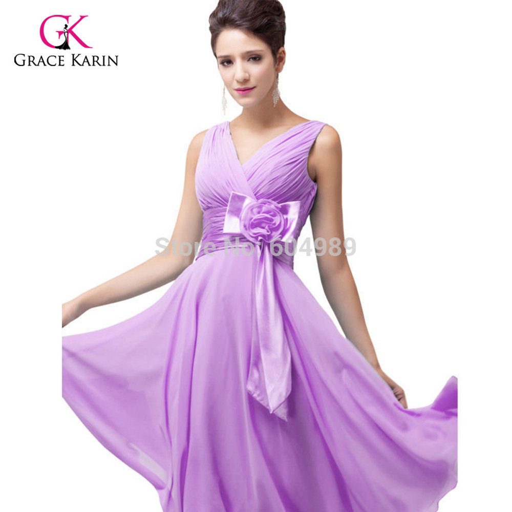 Free Shipping stock Grace Karin Women Fashion Purple Sky Blue Deep V neck  Short Evening Dresses 6015-in Evening Dresses from Weddings   Events on ... bdaaacffcf90
