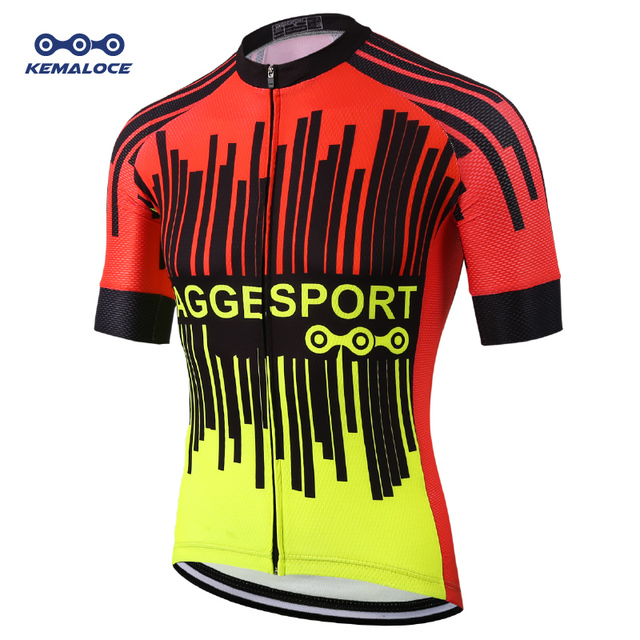 Fluorescent Quick Dry Cycling Tops Apparel Summer Short Sleeve MTB Bike  Shirts Ropa Maillot Ciclismo Racing Bicycle Jersey 1e01a0507