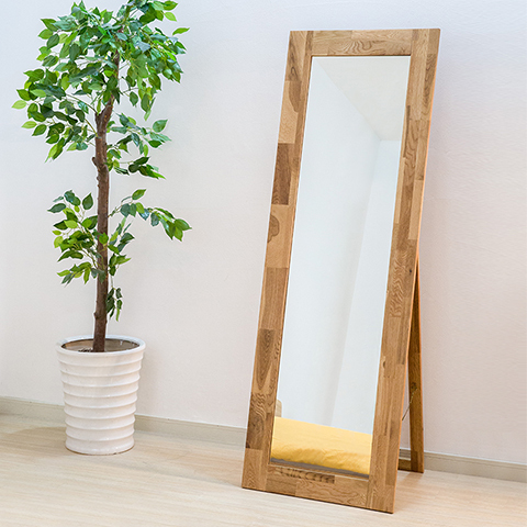 Special Scandinavian minimalist wood floor bracket length mirror ...