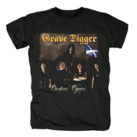 Bloodhoof Witch Hunter Grave Digger Heavy Metal band cover men's heavy metal black T Shirt Asian Size