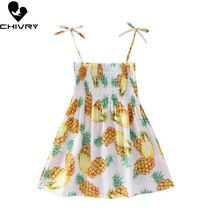 Little Girls Summer Dress Lacing Floral Print Princess Dresses Kids Baby Girls Sling Strapless Sleeveless Loose New A-line Dress цена 2017