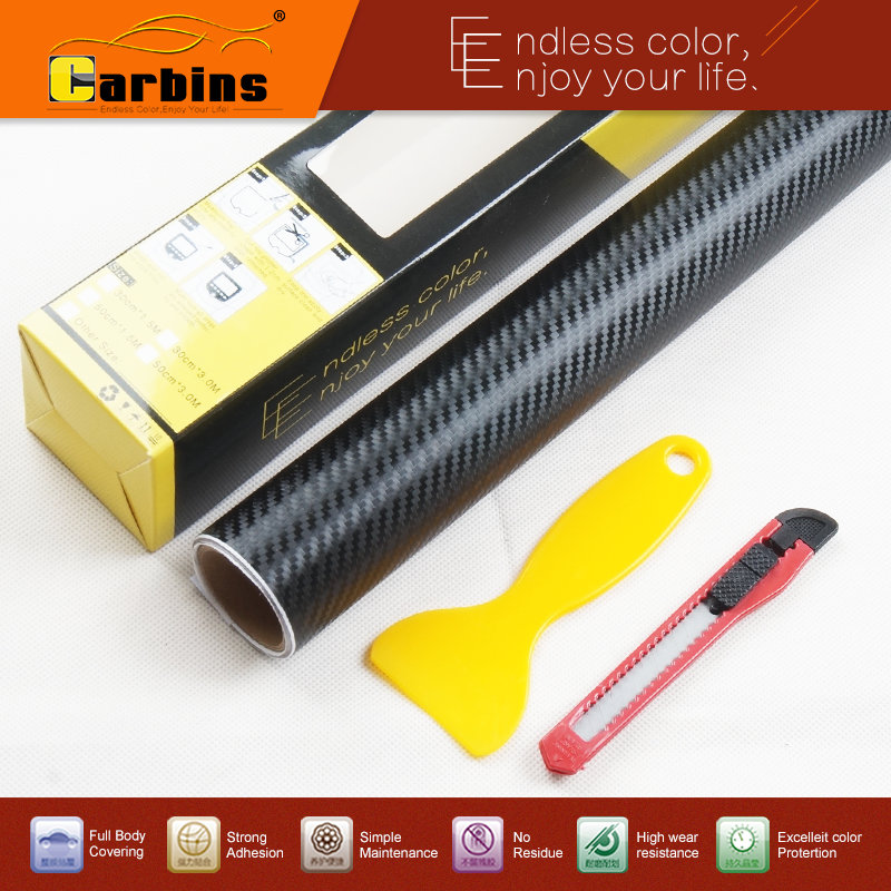 0.5*3 meters  Big sale!  3D/4D carbon fiber black vinyl car wrap  decal roll for cars, laptop, mobile phone, furniture stickers hot sale custom decals for cars uv protection 3m car vinyl wrap rear windshield high beam ghost decal sticker with suction cup