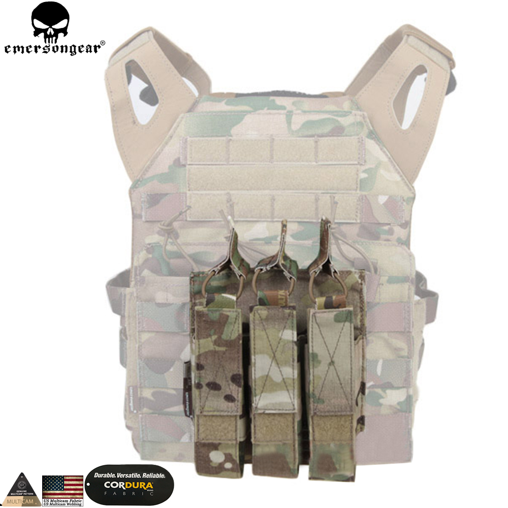 EMERSONGEAR Modular Triple Pouch Airsoft Hunting MP7 Magazine Pouch Wargame մարտավարական պարագաներ Molle Mag Pouch Multicam EM6357