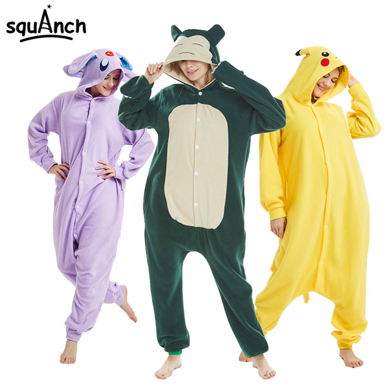Pokemon Kigurumi Snorlax Pikachu Umbreon Animal Onesies Women Men Couple Cute Funny Overall Adult Carnival Party Anime Pajama