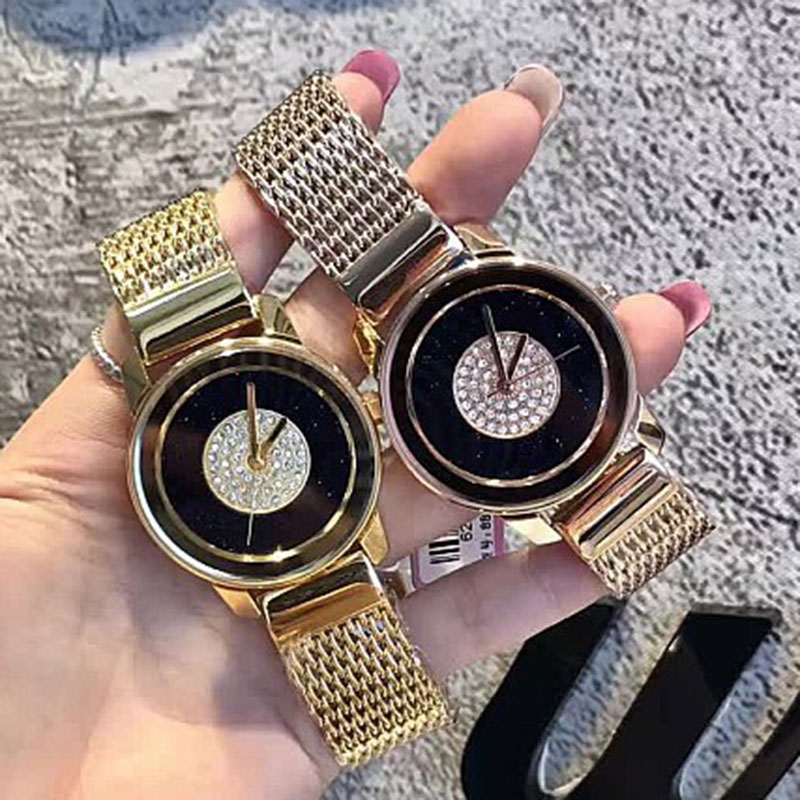 Fashion Gold Mesh Quartz Watch Women Metal Stainless Steel Dress Watches Relogio Feminino Gift montre femme relogio relojes mujer fashion wristwatch gold classic women dress watch geneva quartz stainless steel watches montre relogio feminino