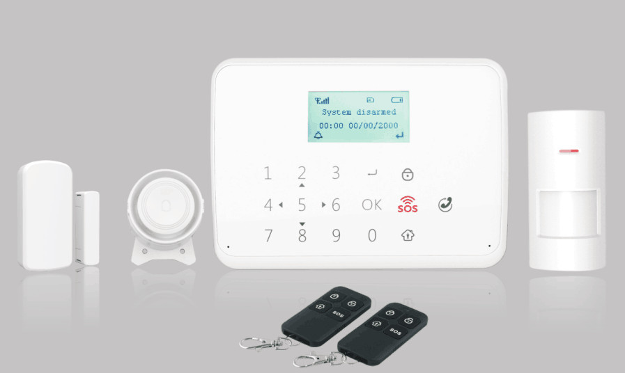 APP Remote Control Touch Keypad GSM Alarm System With SOS Function