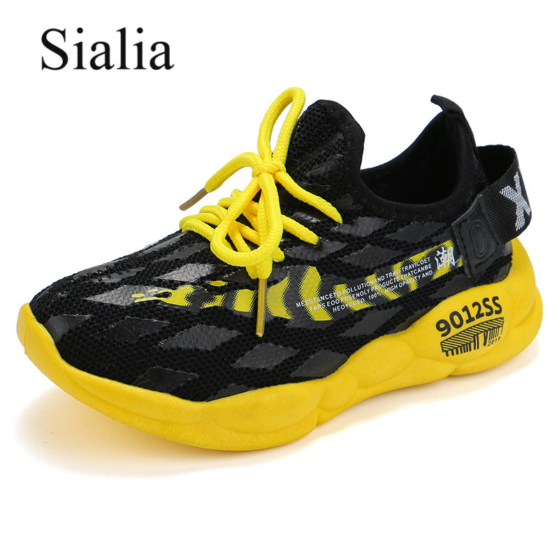 Sialia Summer Children Shoes For Kids Sneakers Boys Casual Shoes Girls Sneakers Breathable Mesh Running Sport Sapatos Menina