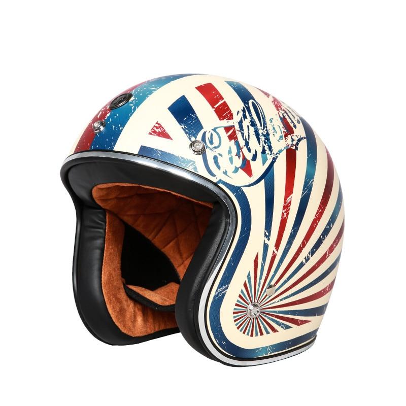 Vintage moto casque TORC T50 open face casque approuvé DOT demi casque Rétro moto casco capacete motociclistas capacete