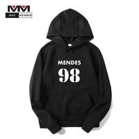 XS 3XL Men Unisex Autumn Shawn Mendes 98 Logo Printed Hooded Hoodies With Pocket Cap Sweatshirts