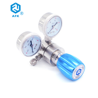 1/4OD Compression tube fittings Helium Gas Pressure Regulator With Dual Gauge 25MpaX 1Mpa
