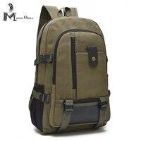 Unisex Vintage Canvas Backpack Tactical Rucksack Canvas Satchel Backpack Shoulder School Bag Heavy Duty Canvas