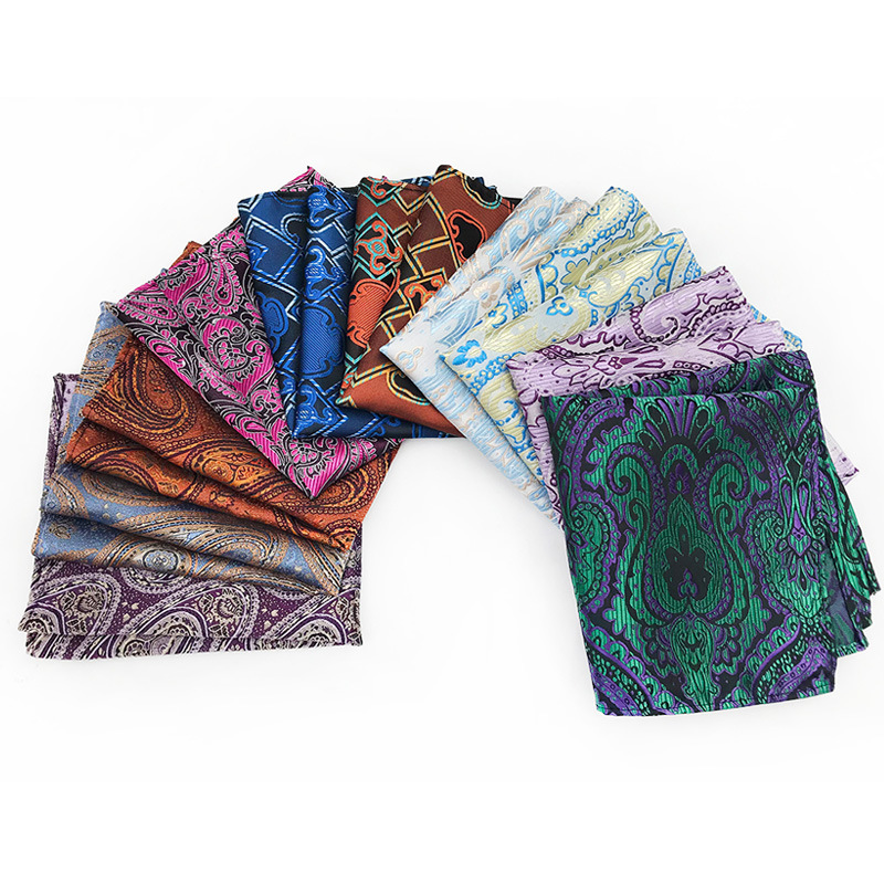 Silk Paisley Men Handkerchief Pocket Scarf Square Accessories Cravat Neckerchief Steinkrik Squared