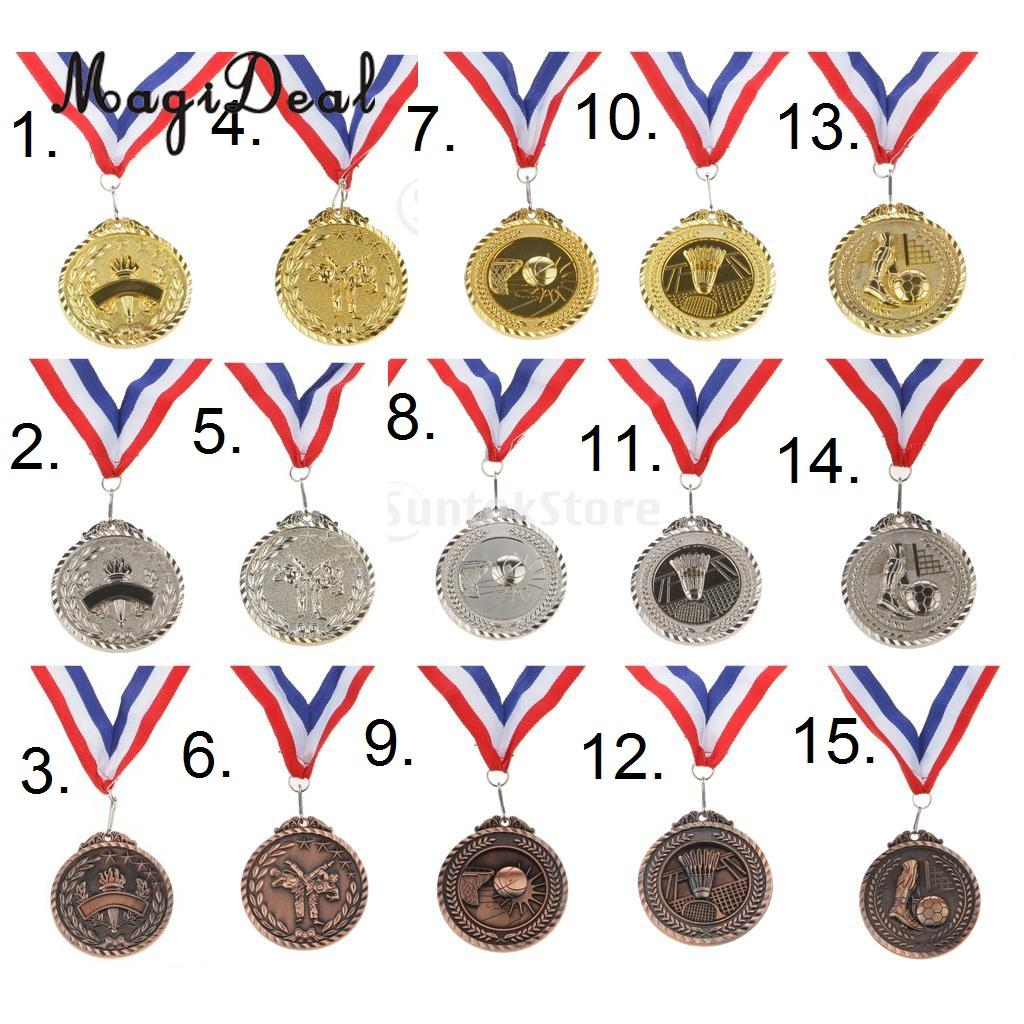 MagiDeal Kids Winners Medal Sports Game Costume Party Prize Awards Games Party Favors Gifts Gold / Silver / Bronze Medal