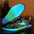 Noche Luminosa Ilumina Hombres Zapatos de Lona Ocasionales Zapatos Que Caminan Del Deporte Para Hombre Entrenadores Superestrella Glowing Zapatillas Hombre Transpirable
