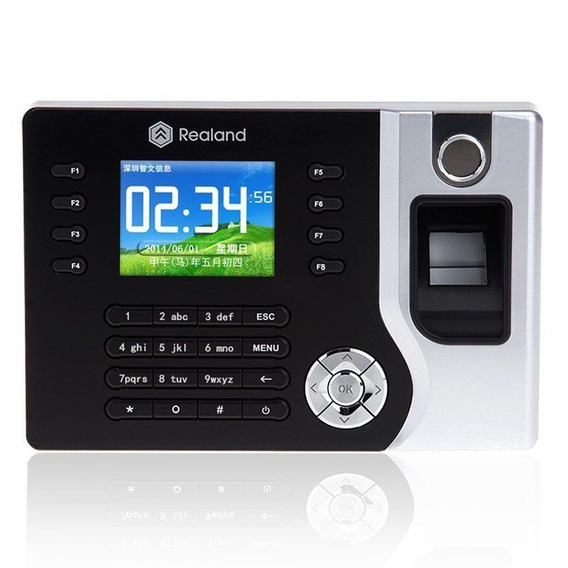 Realand A-C071 TCP/IP Biometric Fingerprint Time Clock Recorder Attendance Employee Electronic Punch Card Attendance Machine