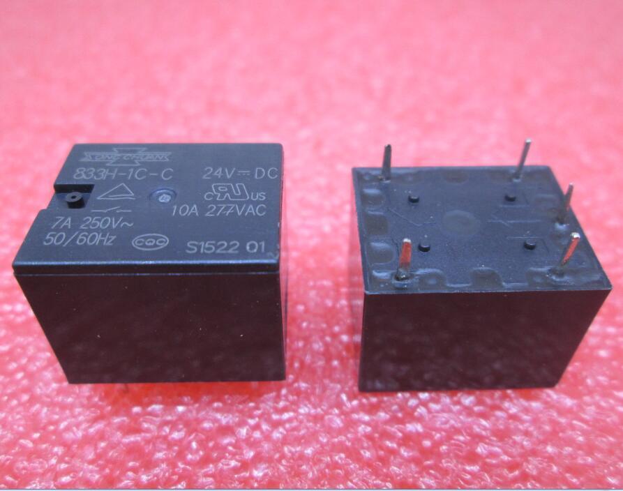 все цены на HOT NEW relay 833H-1C-C 24VDC 833H-1C-C-24VDC 833H1CC 24VDC DC24V DIP5 онлайн
