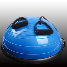58 cm Yoga bola Balance de entrenamiento gimnasio bola Pilates Media bola de Yoga ejercicios de formación Fitball con cuerdas y bomba