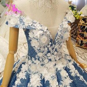 Image 3 - AIJINGYU Dantel Vintage Gelinlik Düz Önlük Kraliçe Frocks Uzun Geri Ayıklaması Gelin Lüks Gelinlik düğün kıyafeti