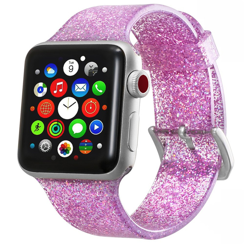 Watchbands for Apple Watch Band Series 4 40mm 44mm Soft Silicone Sport Strap for iWatch 1/2/3 38mm 42mm Wrist Bracelet Women