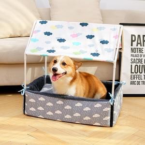 Image 3 - Lit lavable pour chiens et chats, tente, niche pour chiots et chats, maison confortable, amovible, produits ménagers