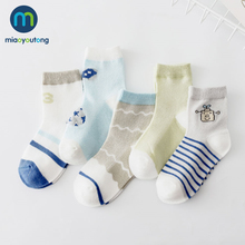 5Pairs/lot Soft Mesh Thin Cotton Aircraft Car Newborn Boy Kids Socks Baby Girls Skarpetki Meia Infantil Miaoyoutong