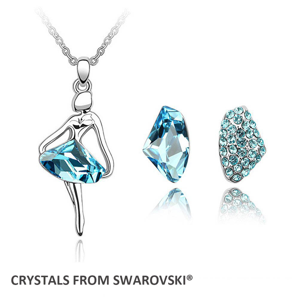 2015 christmas gift! wedding jewelry sets angel necklace earrings set Crystals from Swarovski Christmas Gift