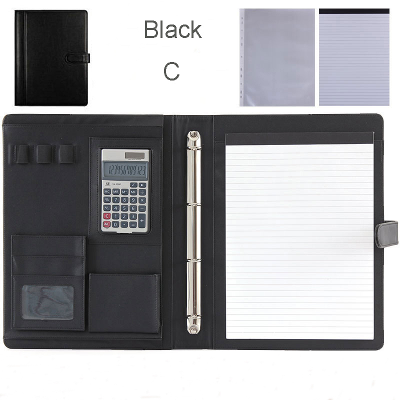 Multifuction PU Leather Folder A4 Office Folders Folders For Documents A4 For Papers File Organizer With Ring Binder 1200C