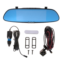 7'' HD 1080P Dual Lens Car DVR Vehicle Rearview Mirror Camera Recorder Dash Cam
