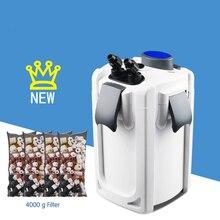 HW-703A/B Аквариум Внешний фильтр воды внешний корпус фильтра 4-секционный измельчитель для специй с УФ бактерицидные лампы светильник исключая фильтр материалы