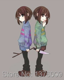US $28 78 15% OFF|Cosplay Undertale Frisk Chara Coat Hoodies Kid kiddo  Costumes Sweatshirts Flowey Asriel Asgore Clothes-in Anime Costumes from