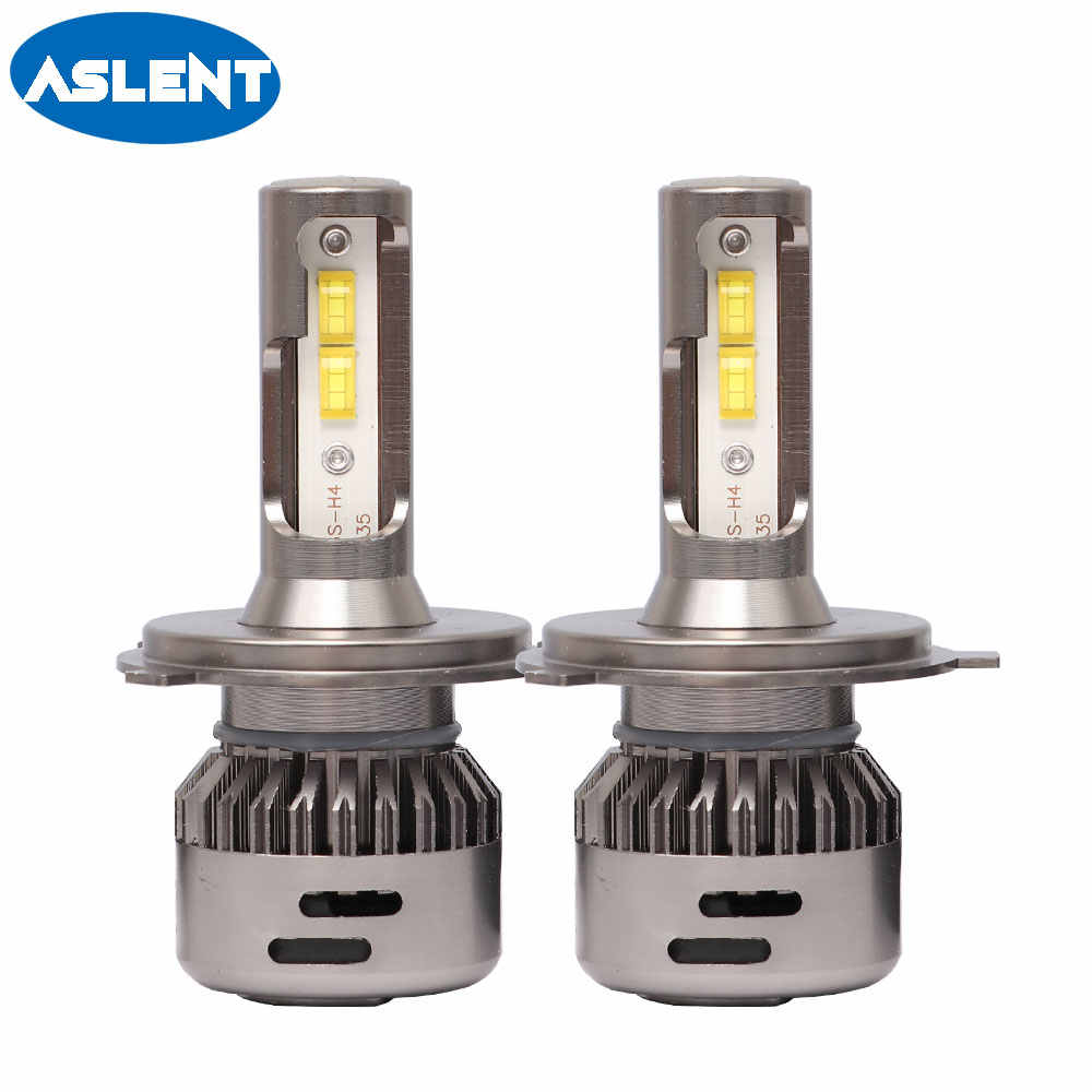 Aslent 2pcs H7 LED Lens bulb H4 Car Headlight Canbus Error Free H11 H8 H1 HB4 HB3 9005 9006 Auto lights 55W/bulb 20000LM 6500K