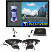 360 градусов Bird View Видеорегистраторы для автомобилей запись с парковки Мониторы Системы, все Круглый заднего вида Камера для Hyundai ix35 Новый santafe ix45