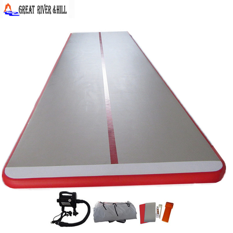 best quality inflatable air track mat heavy duty gymnastics equipment sports and outdoor with free pump for sale 6mx1.5mx10cm